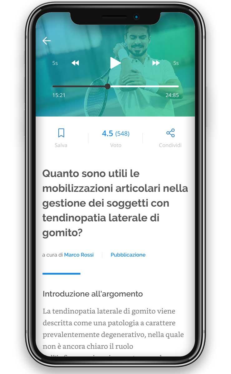 caratteristiche dell'app revyou per fisioterapisti
